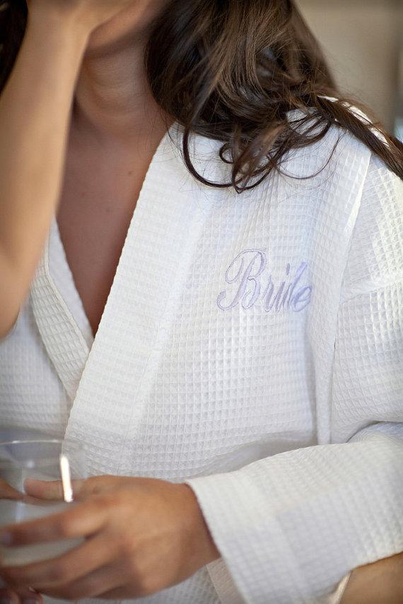 Bride Personalized Waffle Robe.